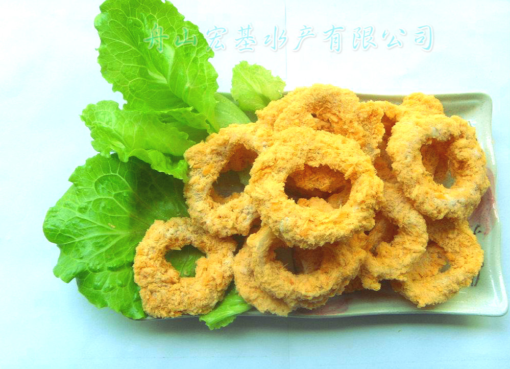 Breaded squid ring